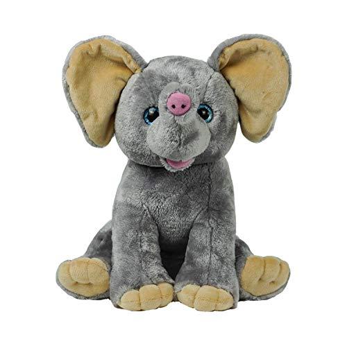 "BEAREGARDS.COM Recordable 15"" Plush Elephant with 60 Second Digital Recorder"