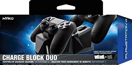 Nyko Charge Block Duo - 2 Port Controller Charging Station with Patented Charging Dongles and Micro-USB/AC Power Cord for PlayStation 4