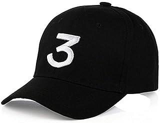 IVYRISE Embroider Baseball Caps with Number 3,Classic Adjustable Strap, Cotton Sunbonnet Plain Hat