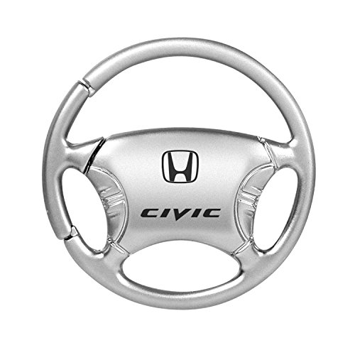 Honda Civic Black Chrome Steering Wheel Key Chain INC Au-Tomotive Gold