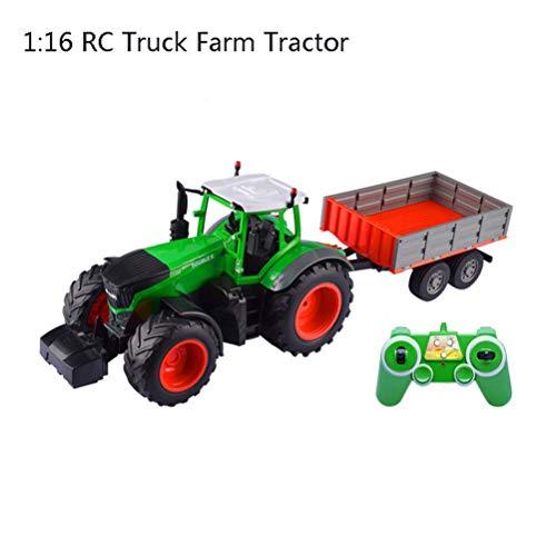 OD.zepp RC 1:16 camión Tractor de Granja, 2.4G Trailer Remote Control de Rake/Escala Alta de la simulación de construcción de vehículos Juguetes para niños