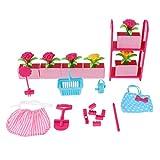 P Prettyia 1/6 Puppenhaus Wohnzimmer / Garten/ Reise / Esszimmer Möbel Set für Kinder Spielhaus...