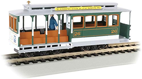 Cable Car with Grip Man - Christmas - HO Scale