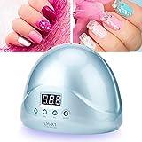 Lámpara de uñas blanca, hecha de ABS DC 24V 2A 150 * 190 * 85mm Melodysusie portátil