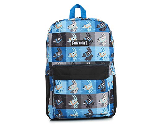 Fortnite Backpack for Boys, Children School Bag, Camouflage Bags for Girls Boys Teenagers Adults, Kids Rucksack with Fortnite Llama, Official Fortnite Merchandise Gifts for Gamers (Blue Medium)
