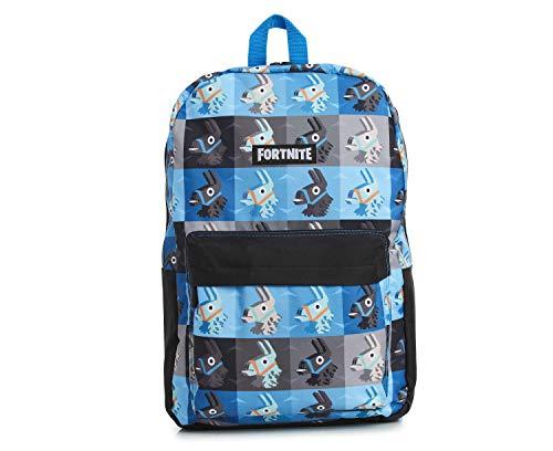Fortnite Rucksack | Schulranzen Für Jungen Teenager Erwachsene Mädchen | Camouflage - Lama Schulrucksäcke, Kinderrucksack | Fortnite Merchandise (Blaues Medium)