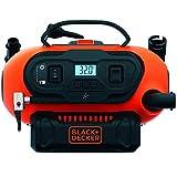 BLACK+DECKER BDCINF18N-QS Compressore Portatile Compatto Senza Serbatoio ad Alimentazione 8.27 Bar-Corrente 12V, modalità di Gonfiaggio