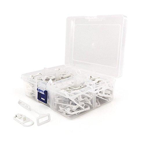 HANGERWORLD Box in Plastica con 104 Ganci Connettori Salvaspazio in Plastica per Grucce Appendiabiti