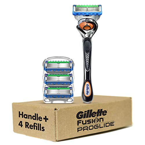Gillette ProGlide Men's Razor and Razor Blades, Handle plus 4 Blade Refills