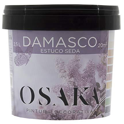 Damasco Estuco Seda Plata Osaka