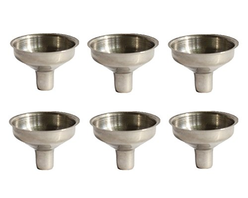 Stainless Steel Mini Funnel for Essential Oil Bottles/Flasks - Pack of 6