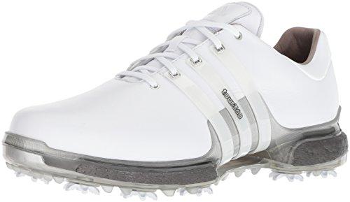 adidas Men's TOUR360 Boost 2.0 Golf Shoe, White/Trace Grey, 11.5 UK