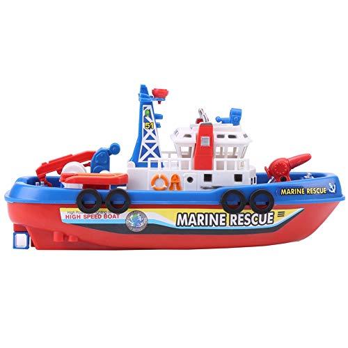 Baby Fireboat Toy, Kids Modelo eléctrico de barco Juguete con luces de sonido y flash Pulverización de agua Barco Playset Bañera Piscina Playa Pretender Juguete para niños Niño