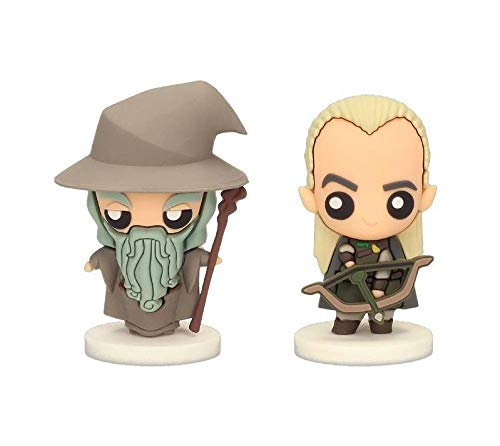 LEGO Gandalf and Legolas Set 2 Pokis Figures Lord of The Rings Official Merchandising...