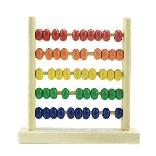 Daxoon houten abacus kleurrijk houten telframe rekenmachine speelgoed voor kinderen