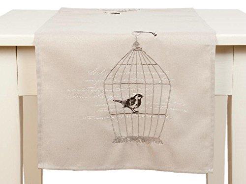 Marque : clayre eef & s005.065 chemin de table motif oiseaux cage à oiseau env. 40 x 120 cm