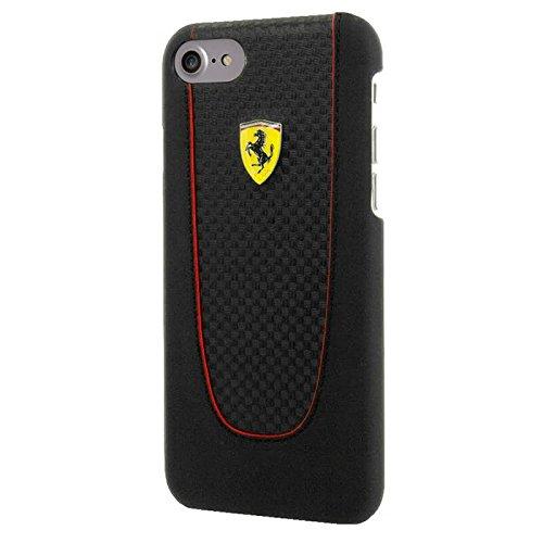 Ferrari–Pit Stop fepihcp7bk–Carbon Hard Cover–Apple iPhone 7–Nero (fepihcp7bk)