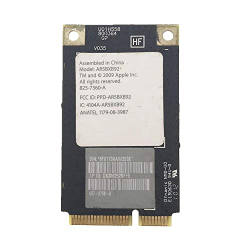 Miwaimao Atheros AR5BXB92 AR9280 300Mbps wireless LAN card Airport Extreme for Mac Pro 2008