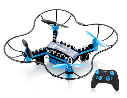 Top Race DIY Drohne Bausteine 2,4 GHz Fernbedienung Drohne, bauen Sie es selbst und fliegen Sie, 54 Stück (TR-D5) ab 14 Jahren