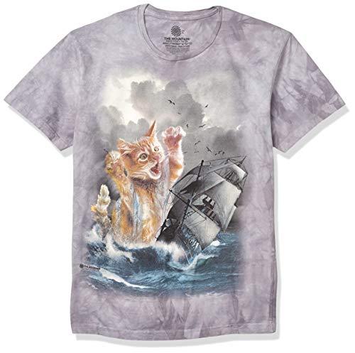 The Mountain Krakitten Adult T-Shirt, Grey, Large