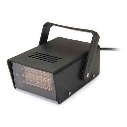 SODIAL(R) Mini LED estroboscopica intermitente efecto de luz blanca AC 100-240V etapa del disco