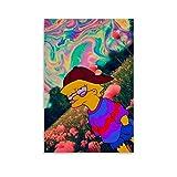 WLMW Póster de Lisa Simpson hippie sobre lienzo, impresión artística para pared, decoración moderna para habitación familiar, 20 x 30 cm