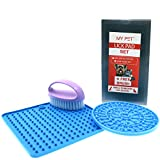 Lick Mat Set | Lick pad set | Slow Feeder & Treater | Bathing Distraction Device|for Pet Bathing & grooming | food dispenser toy | pet lick mat set | for DOGS and CATS small to medium size