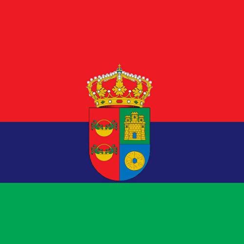 magFlags Bandera Large Cuadrada de Tres Franjas horizontales Rojo 2 Azul 1 y Verde 1   1.35m²   120x120cm