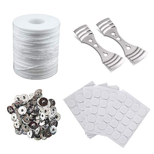 Kit de Fabricación de Velas,mechas para velas,Accesorios para velas,mecha plana para velas,Natural vela mecha mecha de algodón,para Hacer Velas,vela DIY (A)