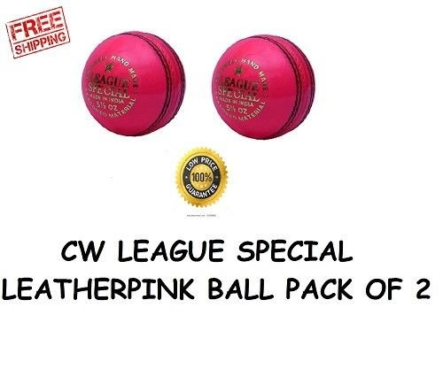 CW Pink Leather League Special Cricket Ball (in Pack of Two Piece)