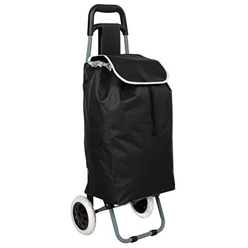 Einkaufstrolley Schwarz Klappbar | Einkaufs Trolley Trolli Roller Faltbar | Einkaufsroller Einkaufshilfe | Einkaufswagen Transportwagen