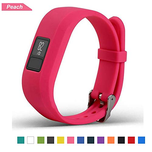 Bemodst Correa Strap para Reloj Garmin Vivofit 3, Pulsera de Silicona Brazalete de Reemplazo Banda de Repuesto para Hombre Mujer (Melocotón)