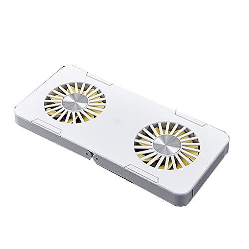 haozai Base De Refrigeración para Portátil,Almacenamiento Plegable,diseño Estable Antideslizante con Función De Disipación De Calor Rápida,Soporte USB Portátil para Computadora Portátil