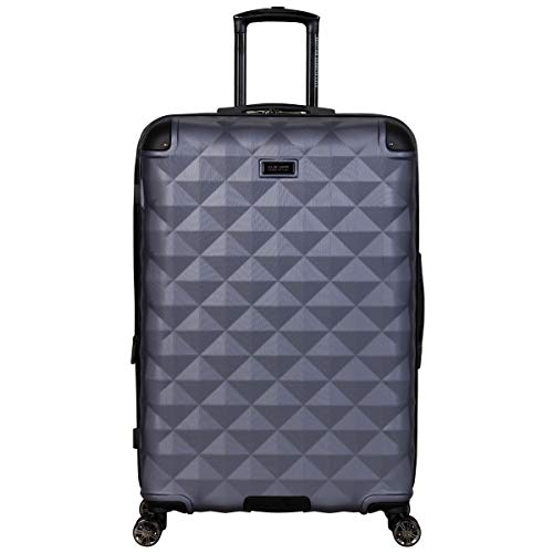 Kenneth Cole Reaction Diamond Tower Luggage Collection Lightweight Hardside Expandable 8-Wheel Spinner Travel Suitcase, Smokey Purple, 28-Inch Checked