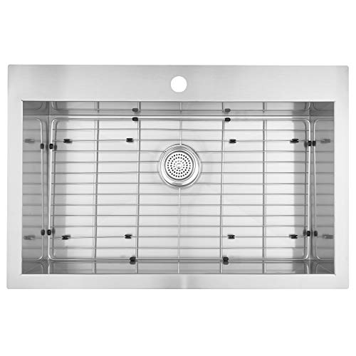 Undermount Single Bowl Stainless Steel Kitchen Sink Basin Length 31 1/2″