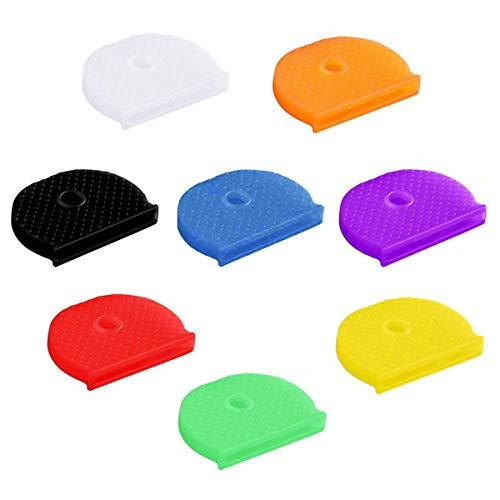 Schlüsselkappen, 16 Stück, Silikon Schlüsselabdeckung, Ringe, Kennzeichen, einfache Identifizierung, Türschlüssel, 8 Farben