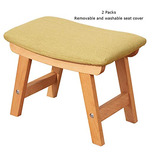 Fantastic G Smdzlyd Solid Wood Shoes Bench Step Stool Home Sofa Stool Adult Coffee Table Wooden Stool Green Caraccident5 Cool Chair Designs And Ideas Caraccident5Info