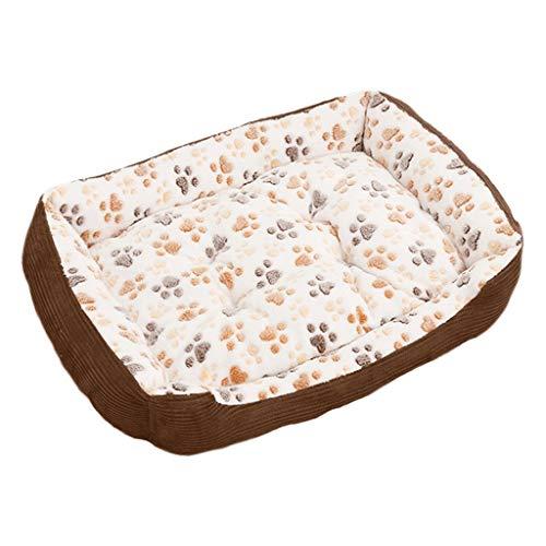 Cómodo sofá de perro de cama de perro con cubierta lavable extraíble y forro impermeable adecuado para perros pequeños y medianos y perros grandes Aliviar La Ansiedad ( Color : Beige , Size : 80cm )