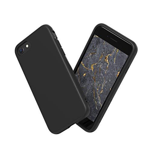 RhinoShield Coque Compatible avec [iPhone SE2 / iPhone Se (2020) / iPhone 8 / iPhone 7] | SolidSuit - Housse Fine avec Technologie Absorption des Chocs & Finition Premium - Noir Classic