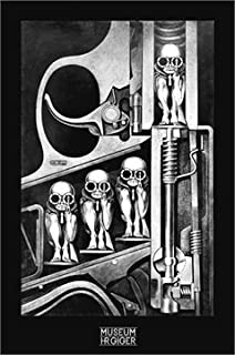 HR GIGER Birthmachine Gothic Art PAPER POSTER measures 36 x 24 inches (91.5 x 61cm)