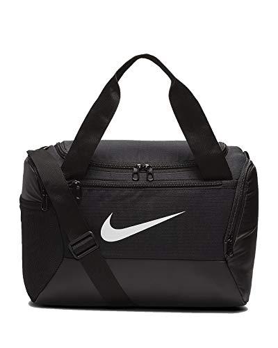 Nike Brasilia XS - Bolsa de deporte (talla única), color blanco y negro