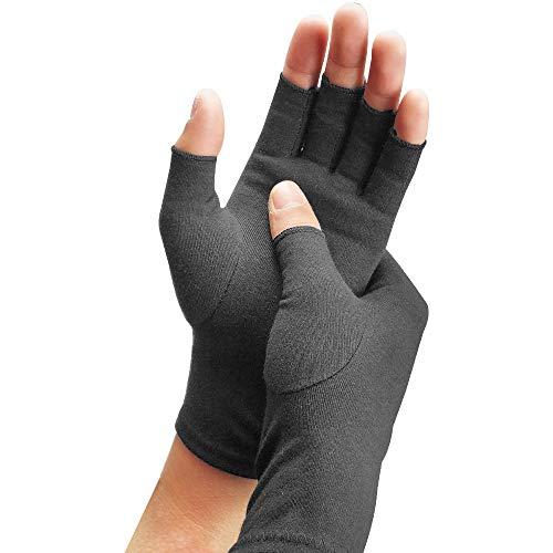 YMJJ Compression Arthritis Gloves Compression Gloves Bequeme Passform, Fingerloses Design - Lindert Rheumatoide Schmerzen Und Entspannt Die Muskelspannung (1 Paar),L