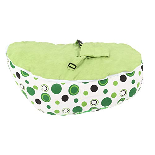 YORKING Mini Children's Sofa Baby Bag Adjustable Harness Kids Toddler Chair Bouncer Beanbag with Safety Harness - Without Filling (Green)