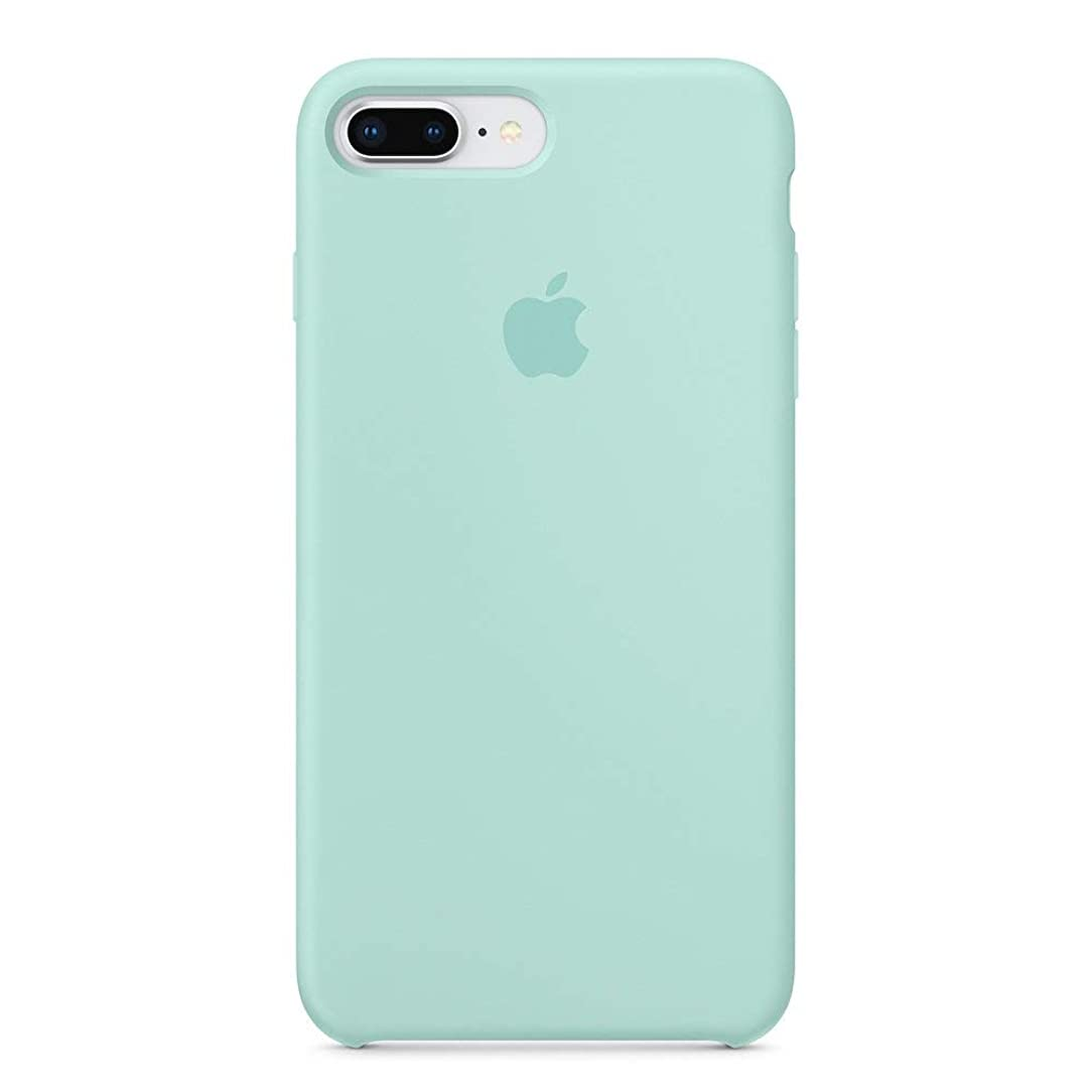 Anti-Drop iPhone 8 Plus / 7 Plus (5.5Inch) Liquid Silicone Gel Case, TOSHIELD Soft Microfiber Cloth Lining Cushion for iPhone 8 Plus and 7Plus (Green Marine)