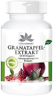 Warnke Gesundheitsprodukte Granaatappelextract met 40% ellagzuren (90 capsules), 1 stuk (1 x 54 g)
