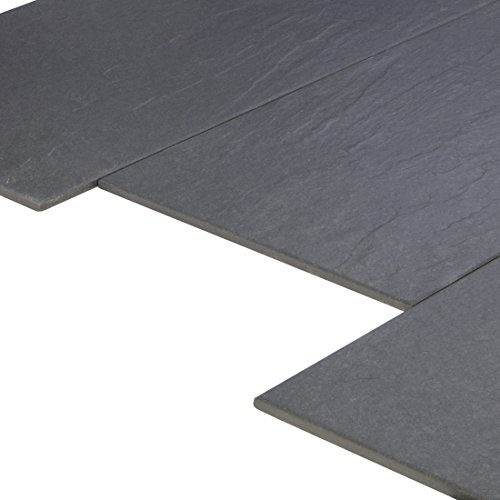 Sockel 1 St/ück Shanon Graphite Sockel 7x60 cm Feinsteinzeug Fliese mit Metalloptik