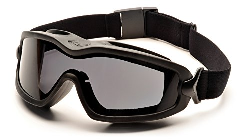 Pyramex Safety Products GB6420SDT V2G Plus Safety Glasses, Gray Anti-Fog Dual Lens with Black Strap, Gray