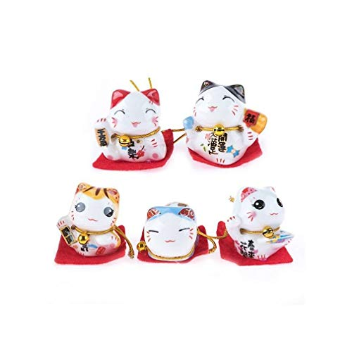 lachineuse Coffret 5 Figurines Maneki Neko - Le Chat Japonai