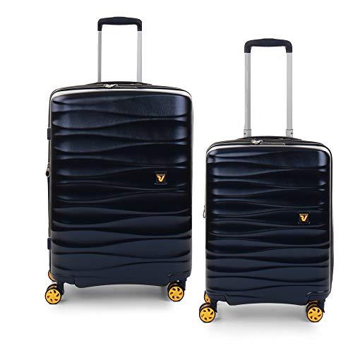 RONCATO Stellar set 2 maletas rígidas ampliables (medio + cabina) Azul marino