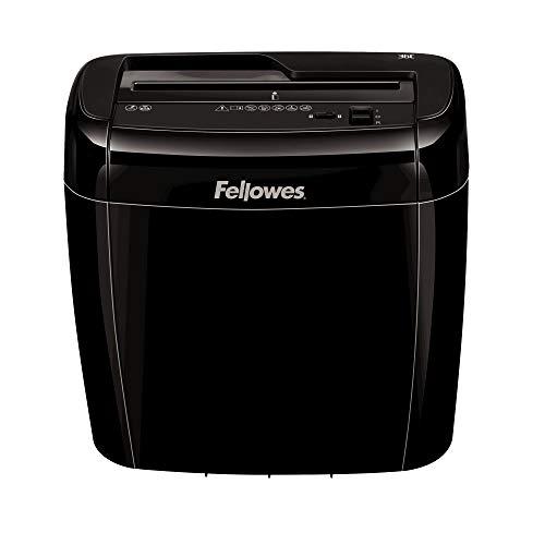 Fellowes 4700301 Cross-Cut Powershred Aktenvernichter 36C, 6 Blatt 4x40mm Partikelschnitt P-4 mit Sicherheitsstopp-Schalter für Zuhause